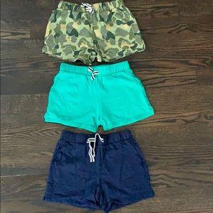 Jcrew Girls' pull-on shorts/size 7/ three shorts!